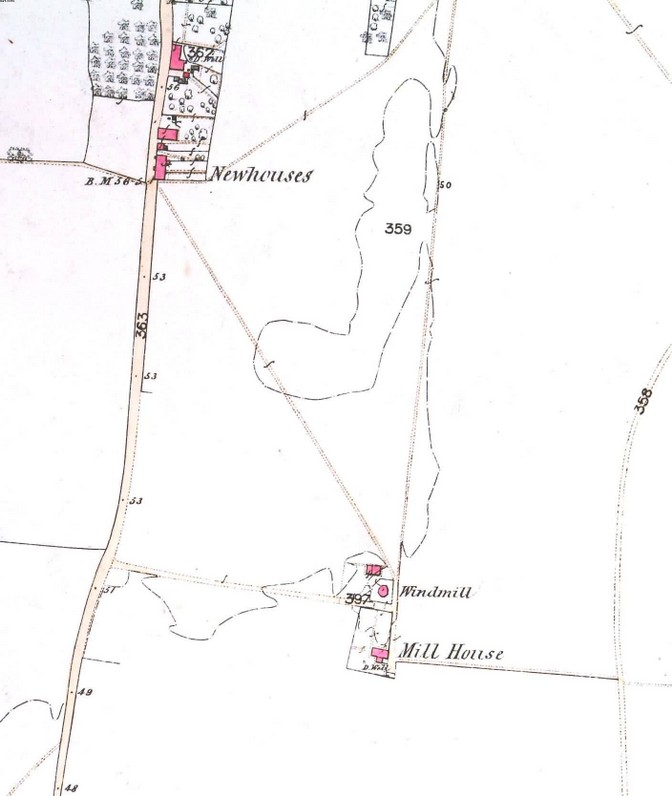 1863 placement of Dances Mill