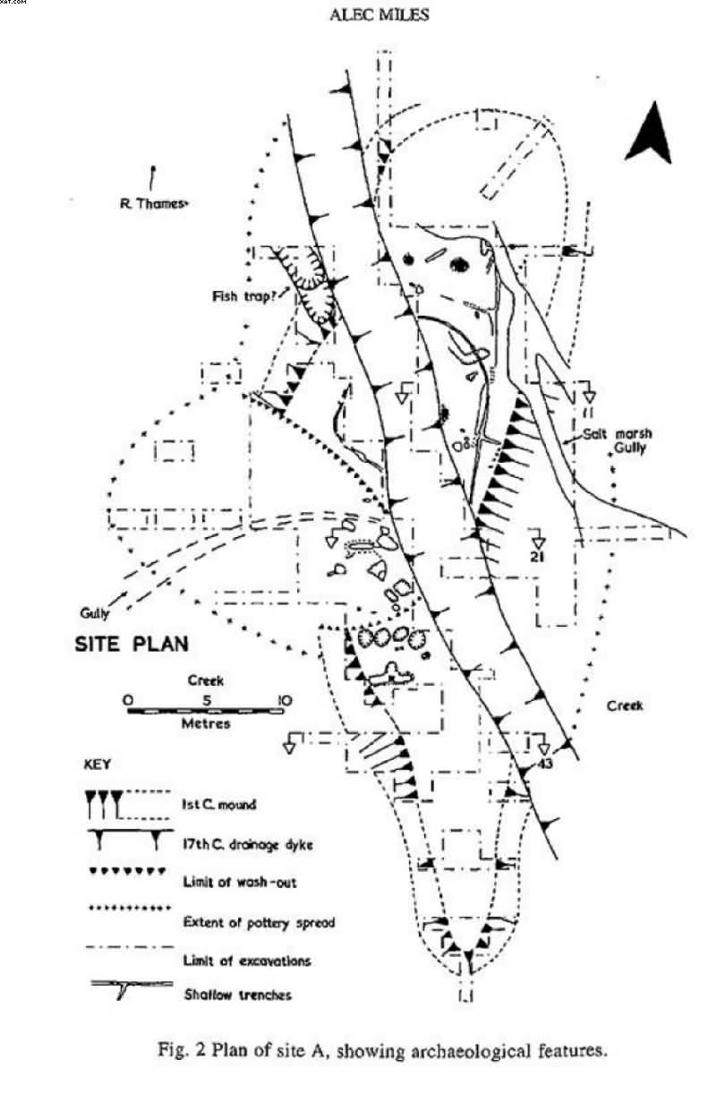 Site plan of Broomhey Farm excavations