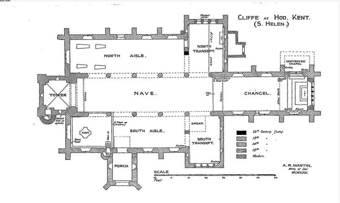 Plan of St Helen's Church